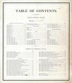 Table of Contents, Bond County 1875